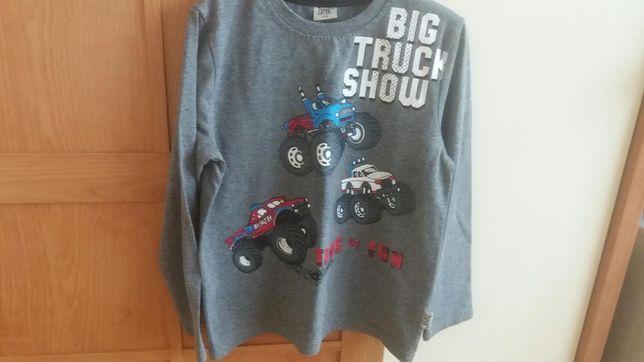 Bluzka, koszulka z długim rękawem Monster Truck roz.116 Stan bdb