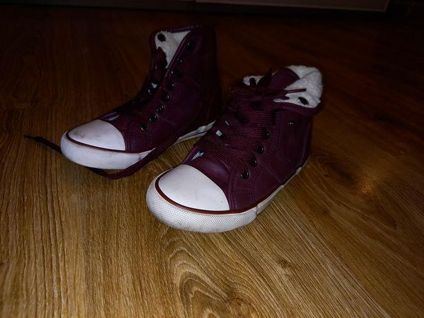 Buty ocieplane jak trampki dziewczynka 31 zimowe jesienne z
