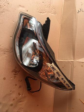 Przednia lewa lampa Opel Karl z chromem 15-19r