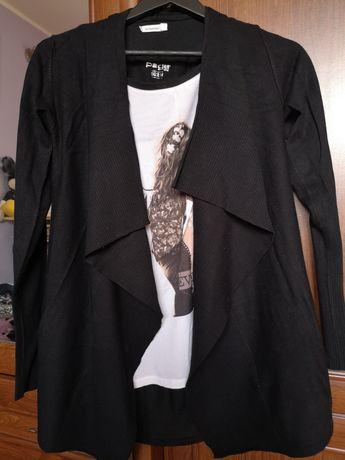 Kardigan czarny Reserved roz M (40) +bluzeczka Takko M gratis