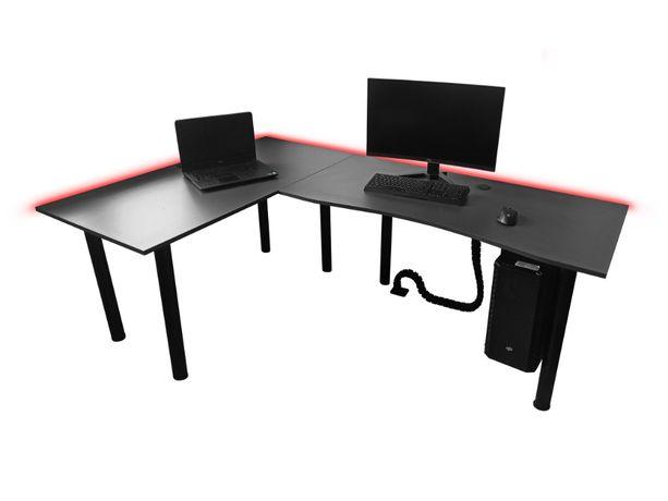 Biurko Narożne Gamingowe Komputerowe Biurowe W Kształcie Litery L