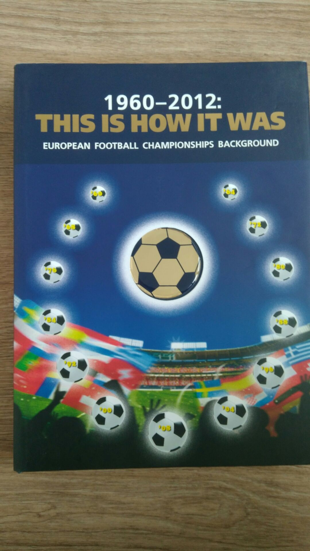 Книга История футбола Евро 1960-2012