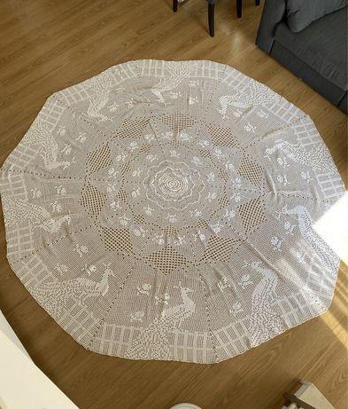 Toalha de renda croche 2.8m feita a mão