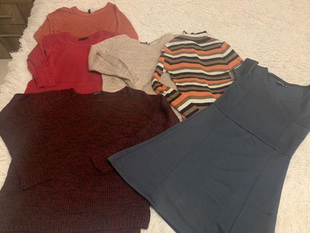 Paka sweterków 5 szt i sukienka