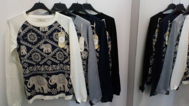 Nowe deliketne przyjemne sweterki damskie młodzieżowe M/L L/XL boho
