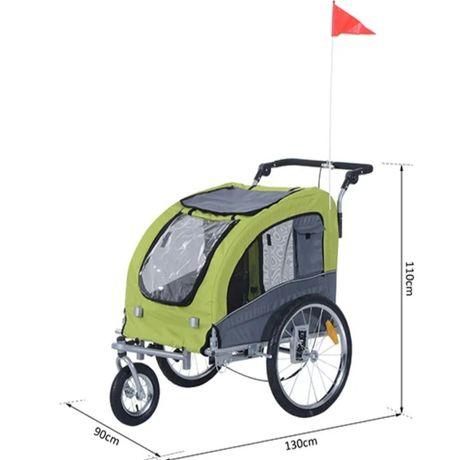 Przyczepka rowerowa, riksza dla psa lub kota. Wózek, Jogger, przyczepa