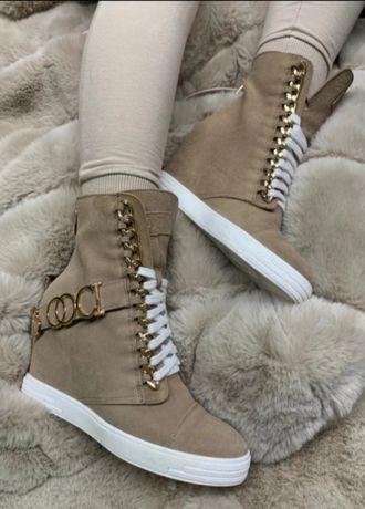 Buty Sneakersy BOCCI Jasny Camel 35,36,37,38,39,40 oryginalne premium