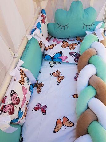 Защита в детскую кроватку,постільна білизна для малюка,балдахін,коса
