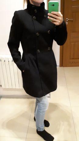 Płaszcz Pull & Bear L jesień zima czarny