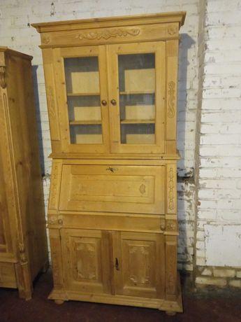 Sekretarzyk - biurko drewniane z nadstawką sosnowe stylowe