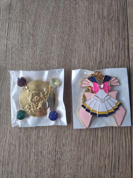 Sailor moon broszka i zawieszka