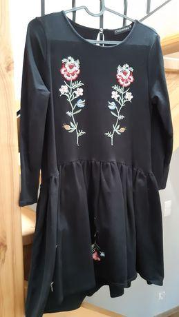 Sukienka cocomore czarna haftowana r.38