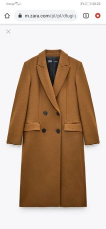 Płaszcz Zara S  z 60 %wełną zara