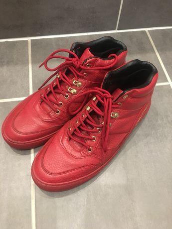 Czerwnone buty sneakersy za kostkę, zara 42