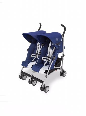 Коляска для двойни Maclaren Twin Triumph blue 2020