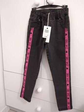 Spodnie szare 5 10 15 rozmiar 128