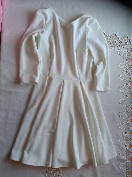 Sukienka ecru Ivon rozm M 38 ślub przyjęcie święta