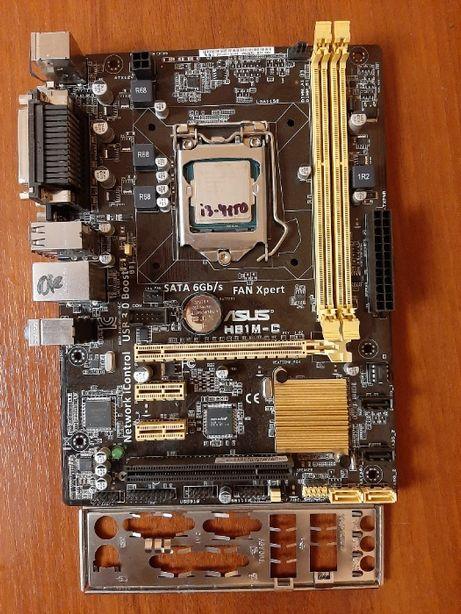 Комплект Asus H81M-C (сокет 1150) + i3-4150 (2 ядра 3.5Ghz)
