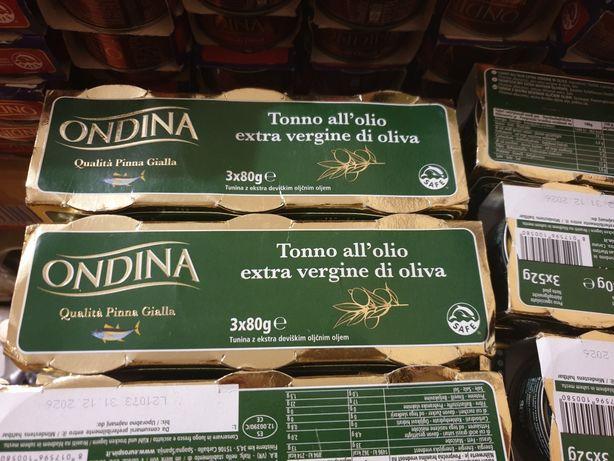 Тунець Ondina в оливковій олії Extra Vergine di oliva 80гр