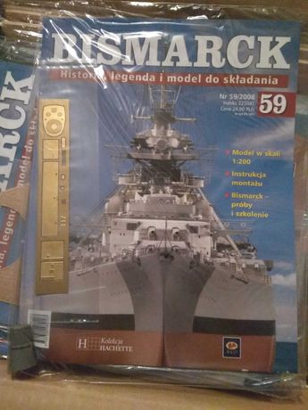 Model Bismarcka z gazetek