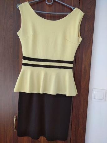 Sukienka czarno żółta