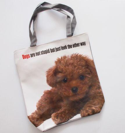 torba z psem plażowa zakupowa Maltipoo