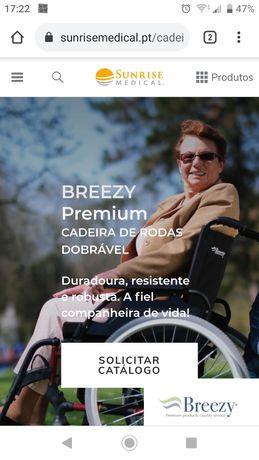 Cadeira de rodas com apenas um mês de uso.