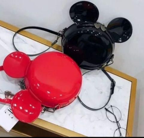 Myszka miki minnie mouse Mickey torebka lakierowana listonoszka