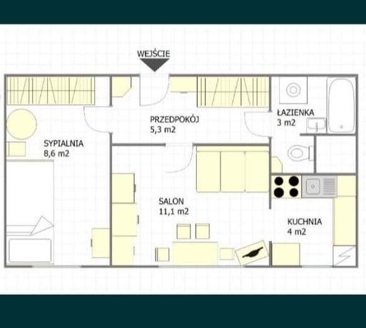 Wynajmę mieszkanie 32m², pietro 3