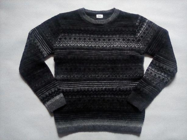 F&F sweter chłopięcy we WZORY 140