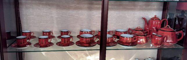 Serviço Chá e Café Japonês Vermelho