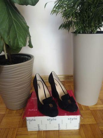 Pantofle zamszowe 40 okazja nowe