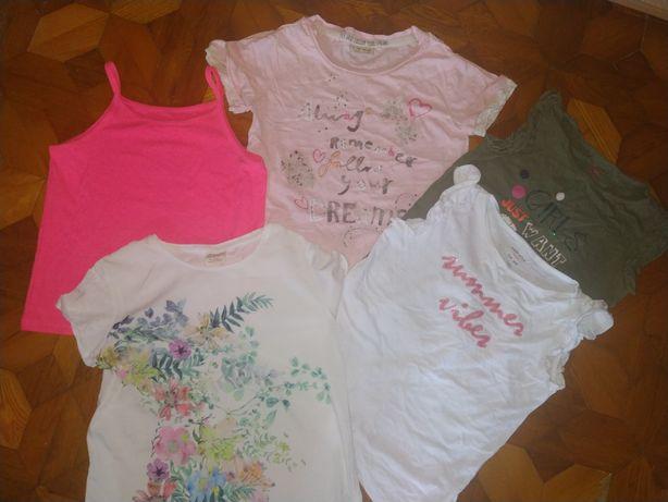 Качественные фирменные футболки и яркая майка на девочку 8, 9, 10 лет