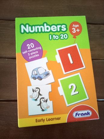 Навчальний пазл Числа 1 до 20 / Numbers 1 to 20