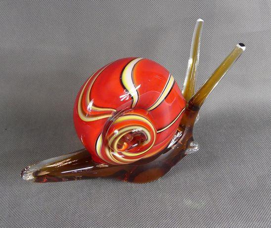 Figura szkło ŚLIMAK MURANO figurka
