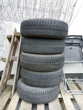Opony zimowe 15 cali z felgami 4 szt komplet dodaje jedną letnią zapas