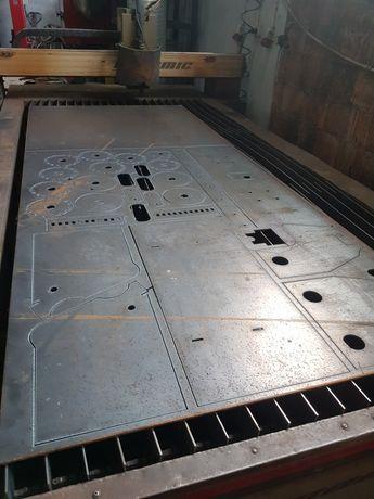 Ciecie wypalanie plazmą CNC STIGAL gięcie wiercenie spawanie ślusarstw