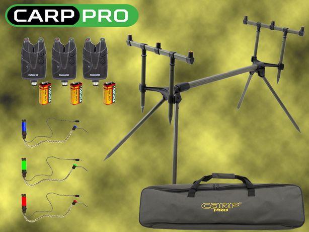 Род под CarpPro в чехле + Сигнализаторы X5Pro 3шт + Свингеры + ПОДАРОК