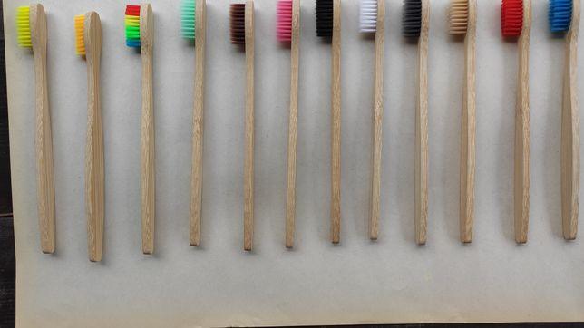 Зубная щетка из бамбука медиум.Акция.