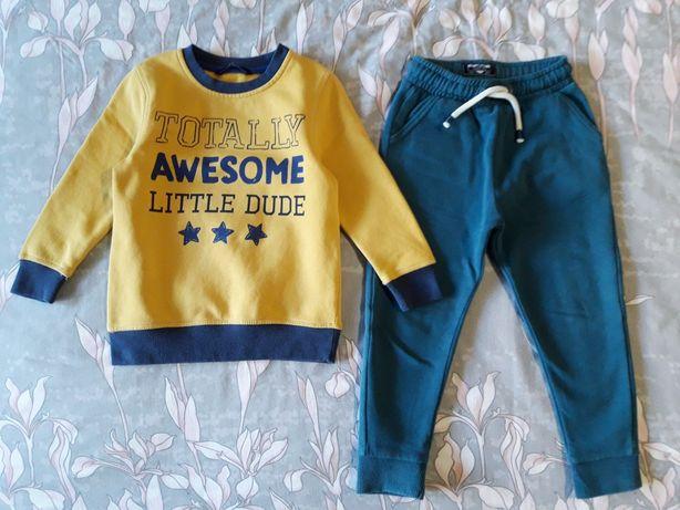Комплект спортивные штаны next свитшот george 3 4 5 104 110 h&m Zara
