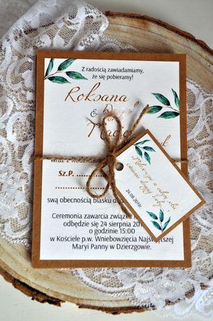 Rustykalne Zaproszenie Ślub 2021 Eukaliptus