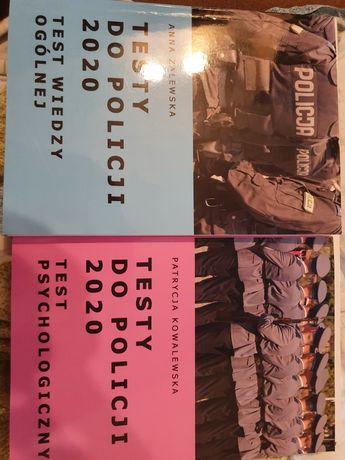Testy do policji, dwie książki