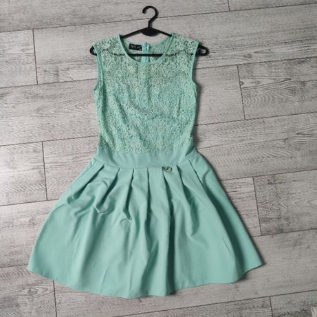 sukienka damska miętowa zielona