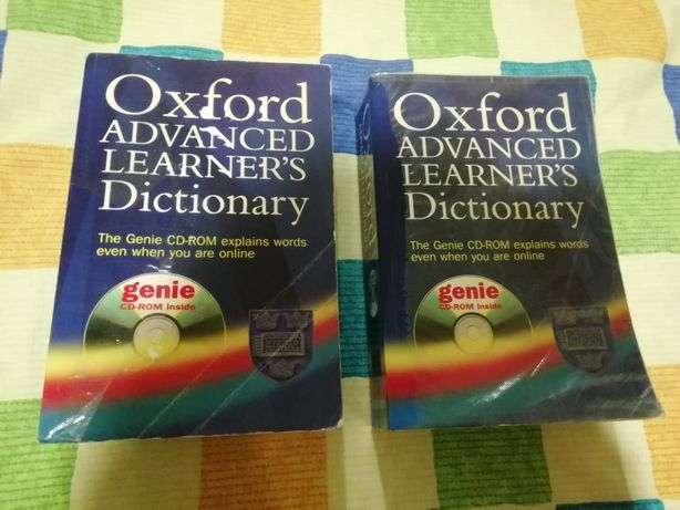 Dicionários inglês e francês