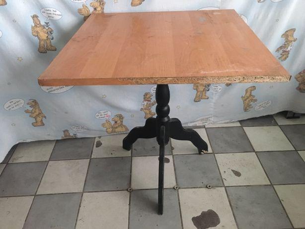 Stary stół kwadratowy stolik prl vintage do renowacji