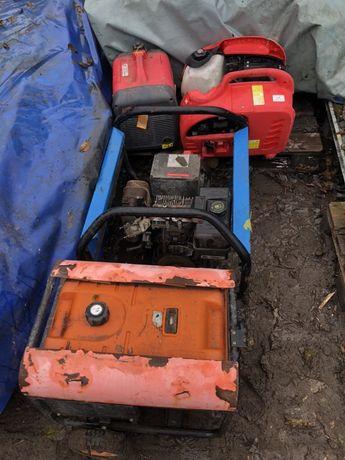 Agregat prądotwórczy spalinowy 4 szt uszkodzone
