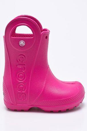 Детские резиновые сапоги Crocs J3 34 35р розовые croslite