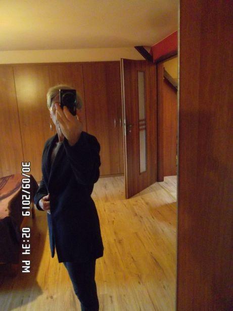 Nowy , granatowy płaszcz , płaszczyk , kurtka RESZKA r. 38