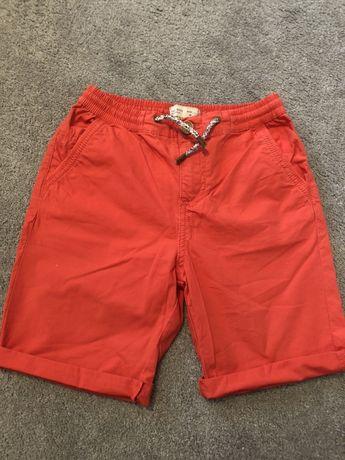 Spodenki popelinowe, czerwone  Zara r.122 cm