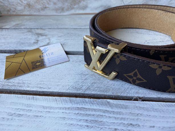 Pasek Louis Vuitton skórzany monogram skóra naturalna Premium